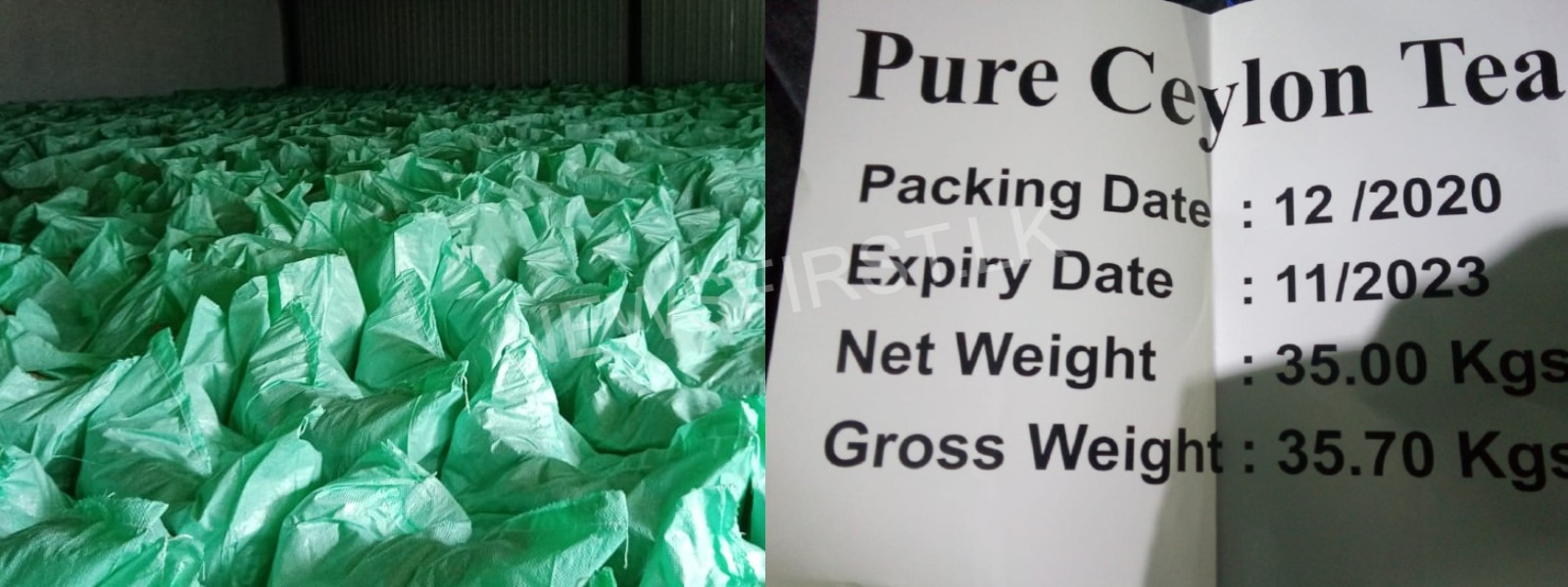 STF NABS STOCK OF REFUSED TEA READY TO BE EXPORTED
