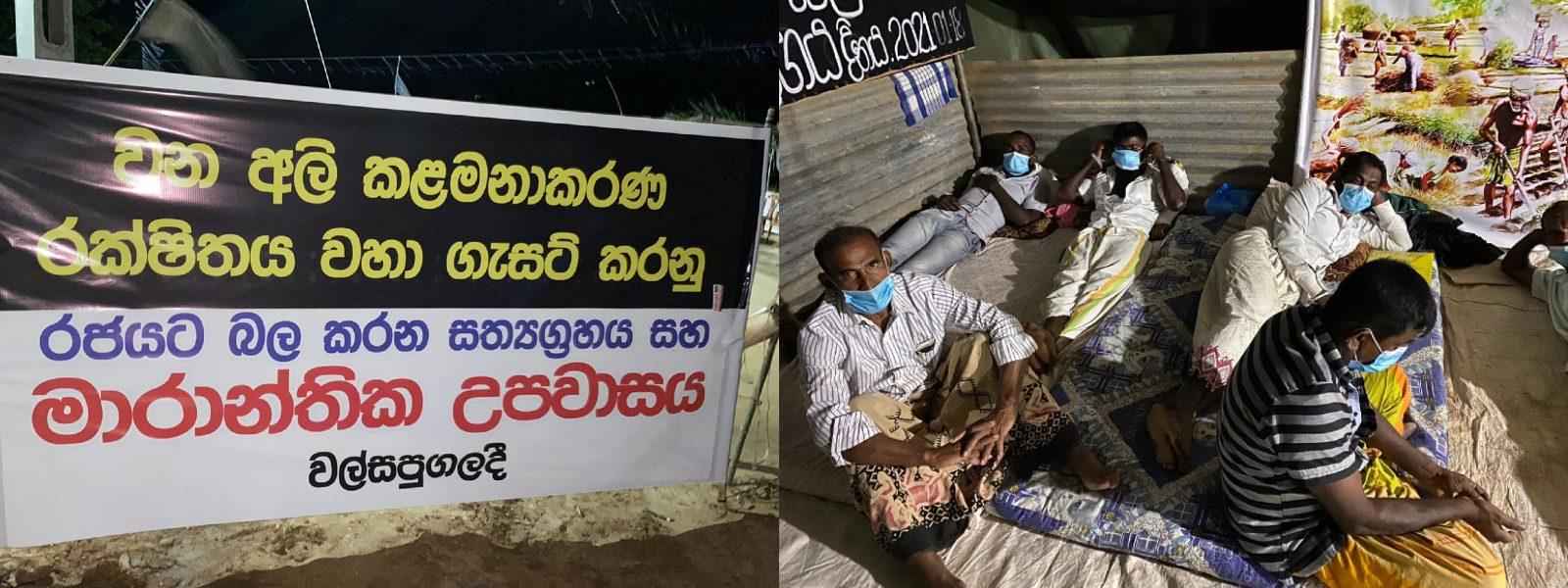 Hambantota Farmers continue Satyagraha