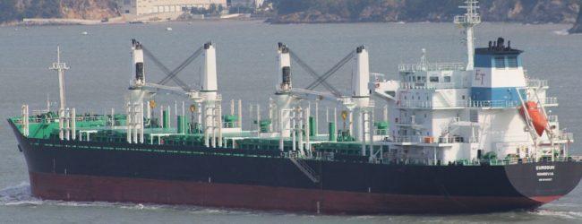 Bulk Carrier runs aground off Little Basses Reef