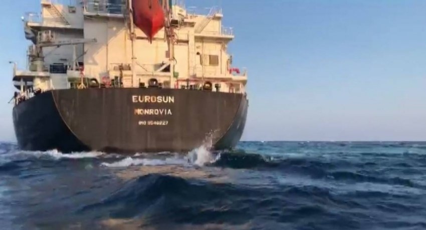MV Eurosun refloated and moved out of danger