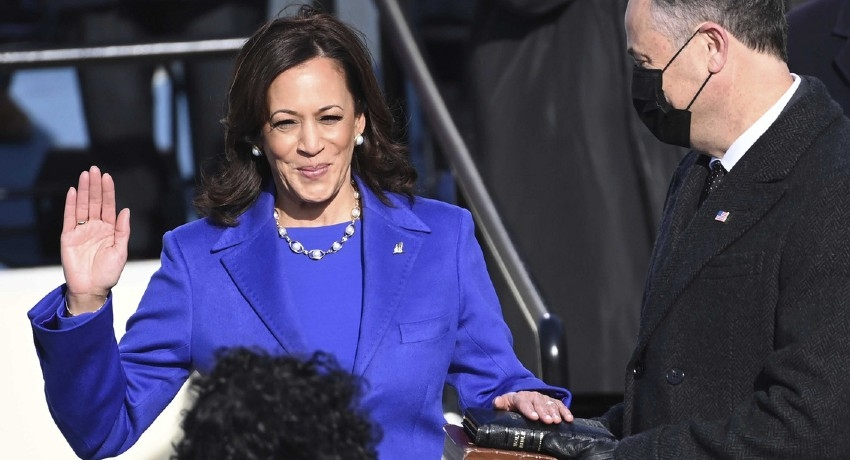 VP Kamala Harris steps into history as first woman of color to hold the office