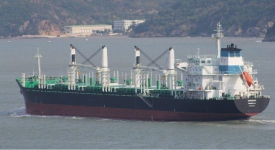 Bulk Carrier runs aground off Little Basses Reef
