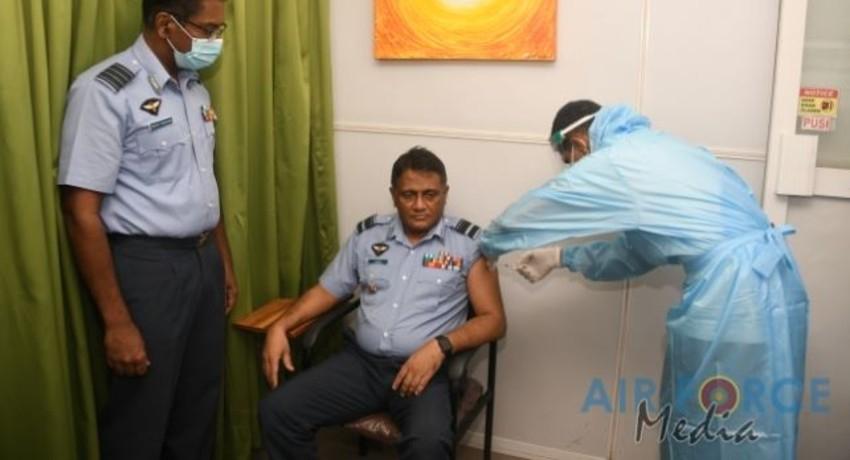 SLAF Health Workers receive COVID vaccine
