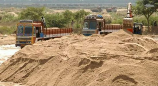 Satyagraha in Madampe against sand mining racket