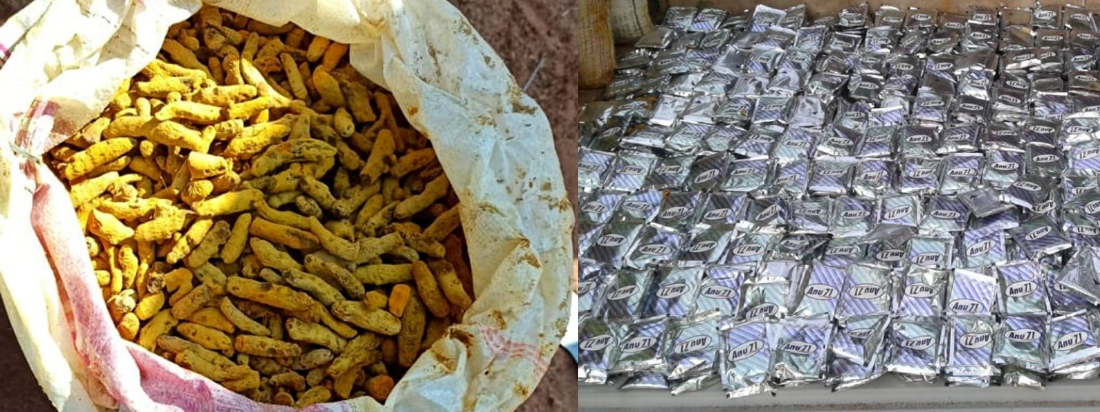 1340kg of smuggled turmeric seized by Navy