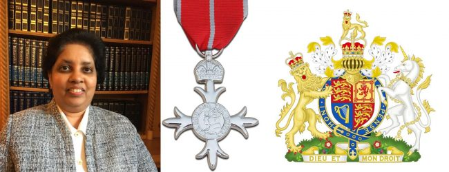 Dr. Kanagasundrem, among British-Sri Lankans recognized in Queen's Honor List