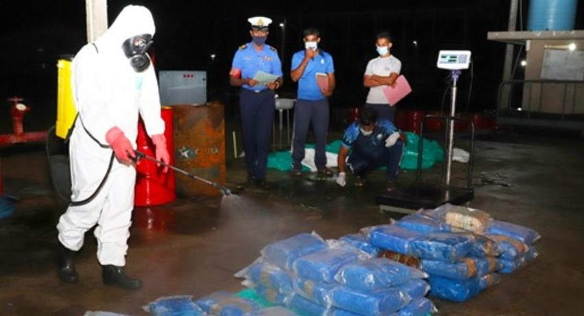 124kg of Kerala cannabis seized by Navy in northern seas