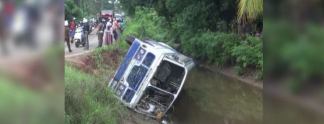 30 INJURED AFTER BUS CRASH INTO CANAL