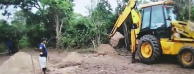Wildlife Officers stop unauthorized construction in Yala Buffer Zone