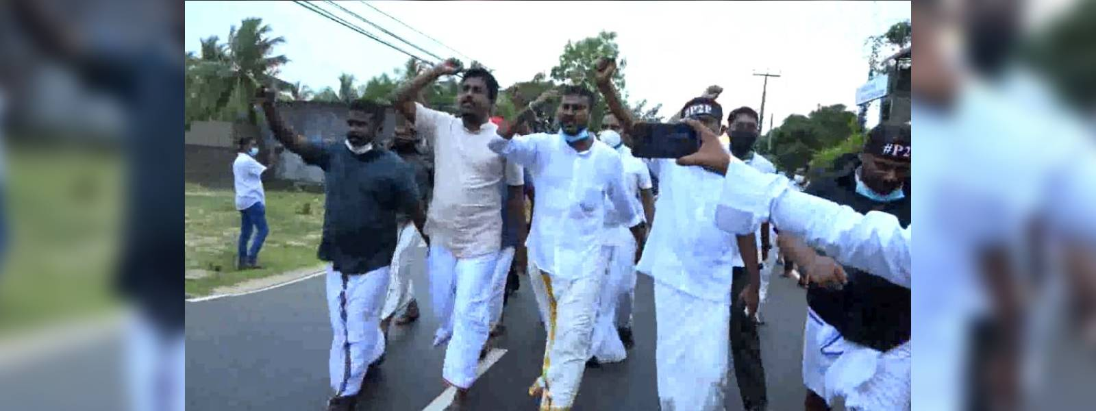 Protest seeking to resolve issues of Tamils