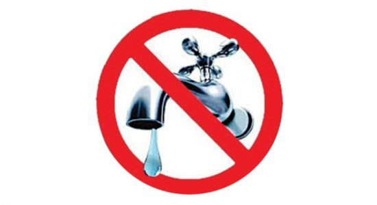 16-hour water cut in several areas on Saturday (20)