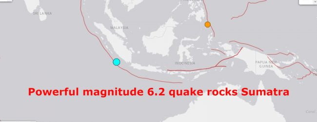 Powerful magnitude 6.2 quake rocks Sumatra