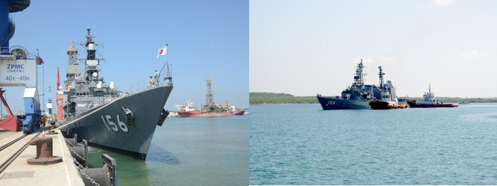 (PICTURES) Japanese MSDF destroyer leaves Sri Lanka