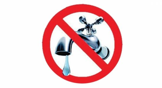 16-hour water cut in Colombo and several areas today (20)
