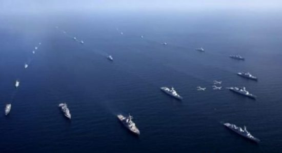 SLNS Gajabahu takes part in AMAN-2021 exercise in Pakistan