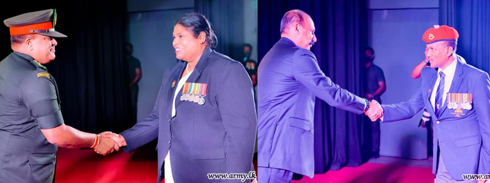 Exclusively designed military uniforms for retired tri-service personnel