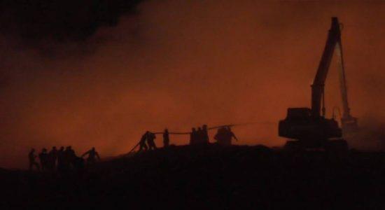 Kerawalapitiya Garbage Dump Fire Doused