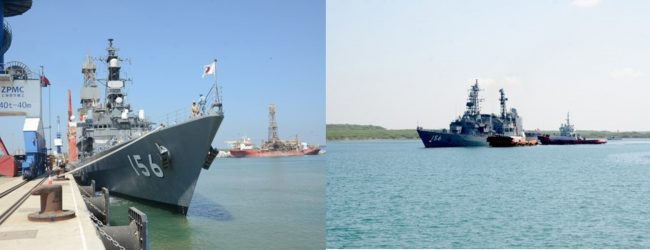 (PICTURES) Japanese MSDF destroyer leaves Sri Lanka