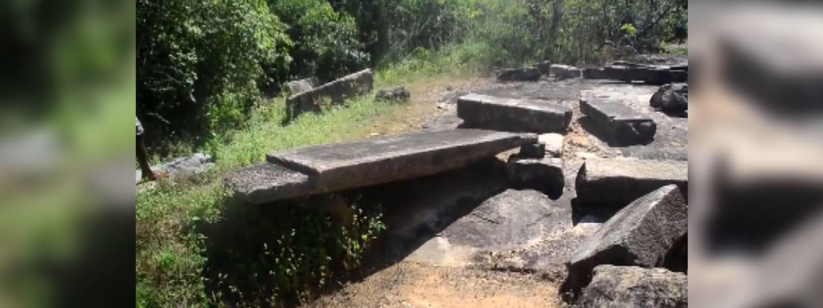 Artefacts in Galenbindunuwewa at risk