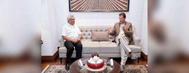 PM Imran Khan calls on President Gotabaya Rajapaksa