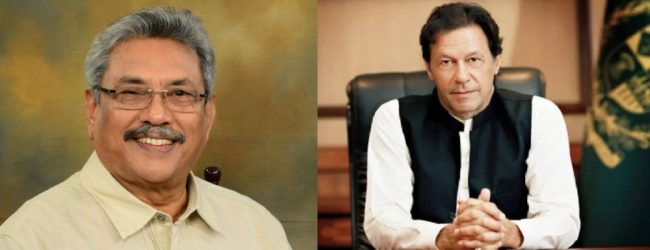 PM Imran Khan to call on President Gotabaya Rajapaksa today (24)