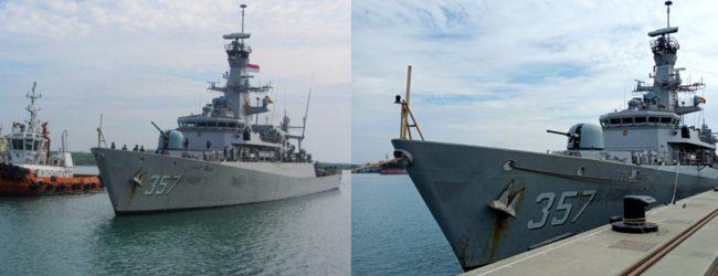 Indonesian Naval Ship arrives at port of Hambantota