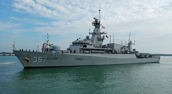 Indonesian Naval Ship arrives at port of Hambantota