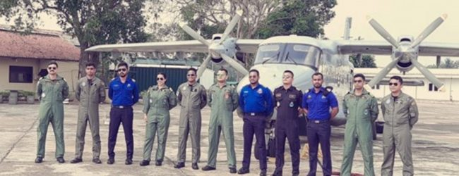 SL & Indian Navy and SL Air Force combine to conduct air observer training