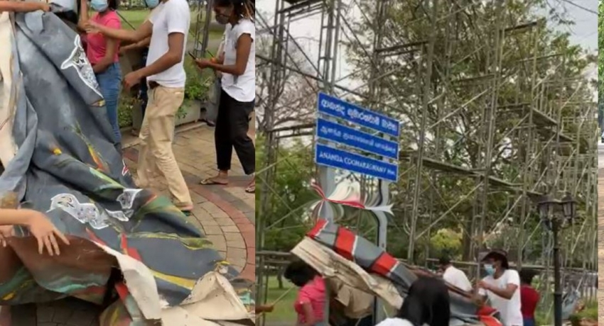 Ecocide Mural at Viharamahadevi Park taken down