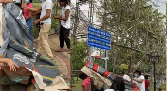 Ecocide Mural at Viharamahadevi Park taken down