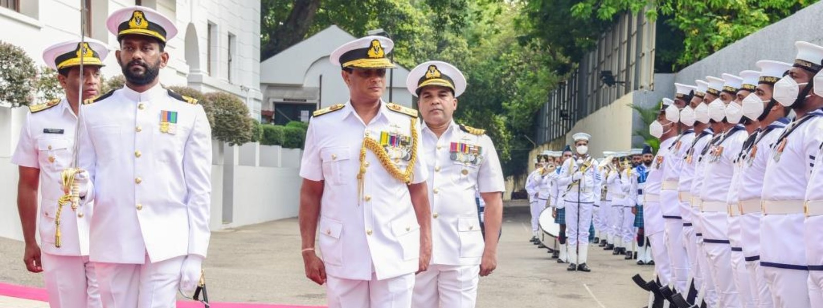 (PICTURES) Navy bids farewell to Rear Admiral Sumith Weerasinghe