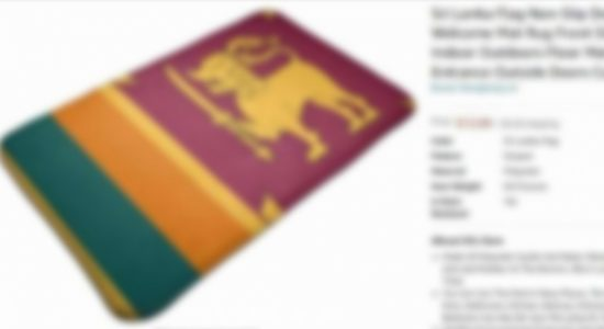 Sri Lanka informs US authorities on controversial doormat using National Flag