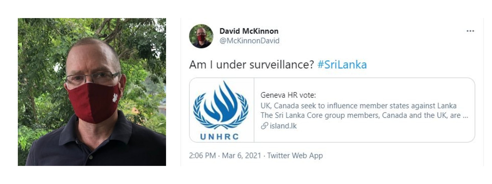 Am I under surveillance? Questions Canadian High Commissioner