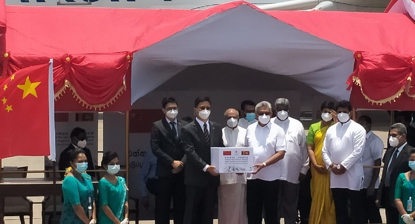 Chinese COVID vaccine arrives in SL; Officially handed over to President