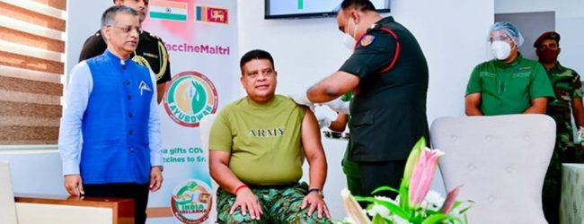 (PICTURES) General Shavendra Silva Gets His COVID-19 Vaccine