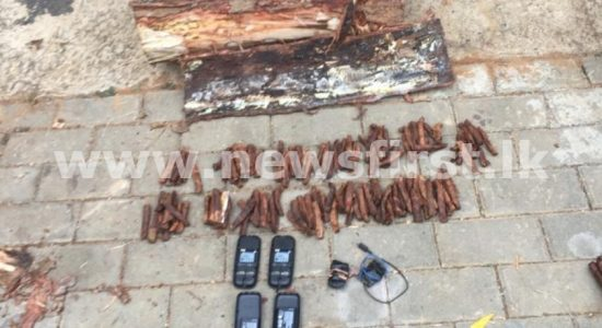 Contraband concealed inside firewood; 03 arrested for smuggling attempt