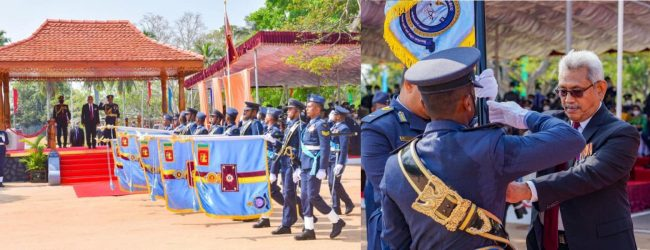 (PICTURES) President's Colors for 02 Squadrons of Sri Lanka Air Force