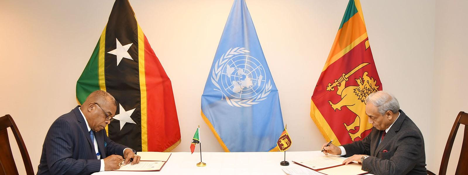 Sri Lanka establishes diplomatic relations with Saint Kitts and Nevis