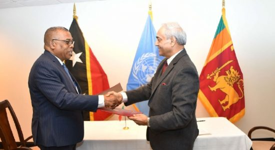 Sri Lanka establishes diplomatic relations with Saint Kitts and Nevis
