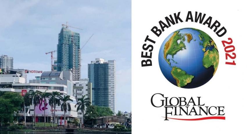 NDB being awarded the best bank in Sri Lanka by Global Finance