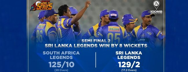 Sri Lanka Legends crush South Africa Legends; will meet India Legends in Final