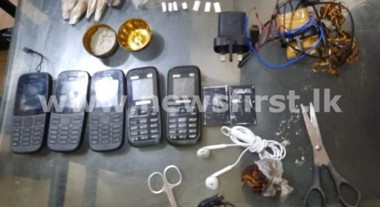 05 mobile phones discovered from Colombo Remand Prison