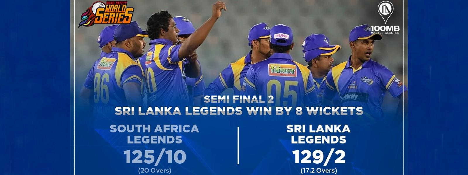 Sri Lanka Legends crush South Africa Legends; will meet India Legends in Final