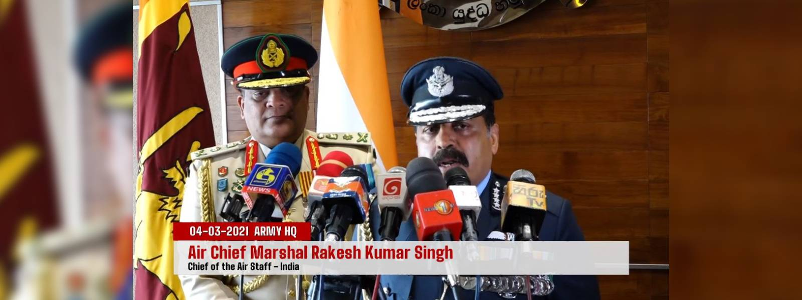 Ready to support SL's security forces: Indian Air Force Chief