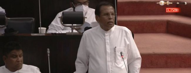 (VIDEO) Those in my own govt. tried to pin the attacks on me; Sirisena