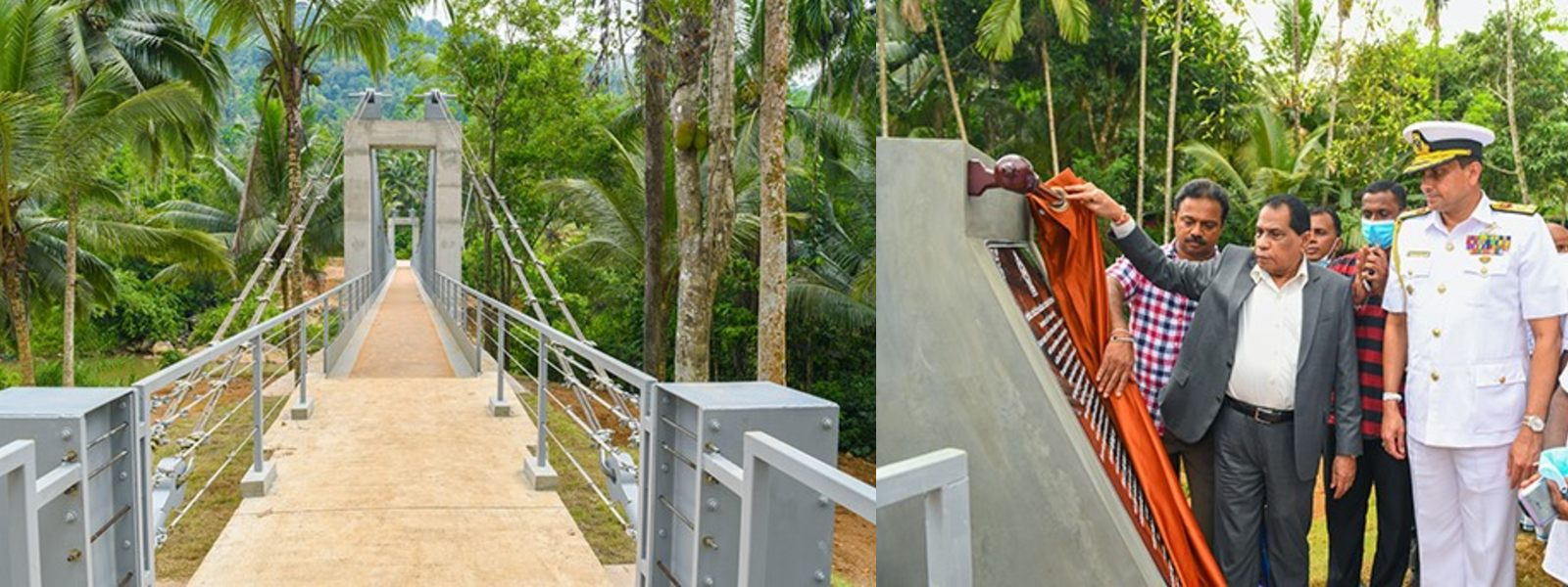 Navy-constructed Lankagama Nilwella Bridge vested with the public