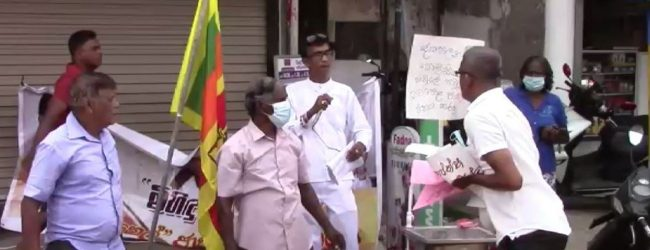 (VIDEO) 'Pahanata Thel' protest confronted by SLPP colleagues