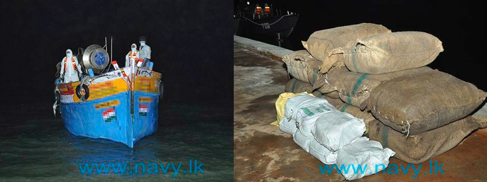 Navy seizes Indian boats with smuggled dried turmeric & cardamom