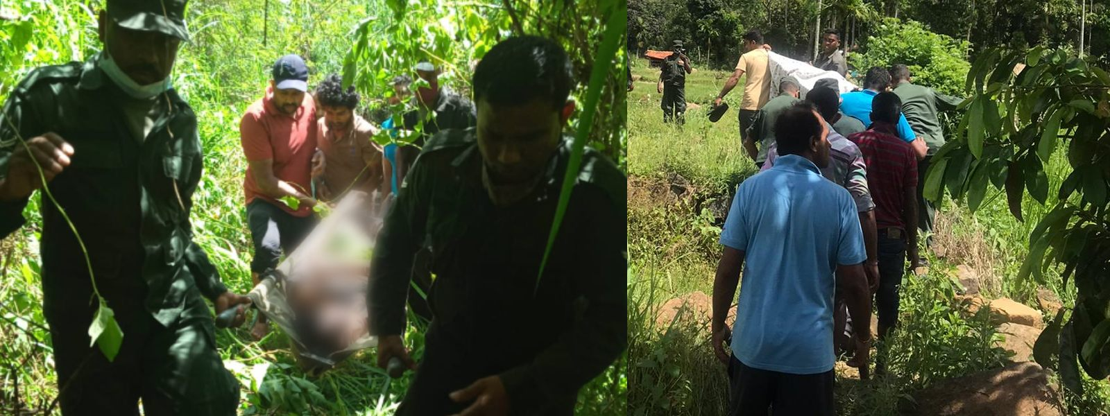 Troops Recover Remains of Missing Father & Son in Haldummulla
