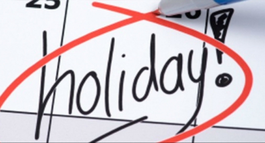 April 12th – Special Govt. Holiday for New Year